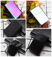 Горячие Продажа Керосин Зажигалки Металл черный матовый Зажигалка Курение топлива многоразового Зажигалки сигаретные инструменты 13 Стили