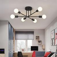 Sputnik moderno lampadario di apparecchi di illuminazione nordico geometrico lampada di illuminazione a soffitto decorazioni per la casa cucina spia soggiorno SZC-143