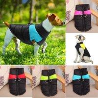 Dog roupas quentes Outono Inverno Colete Dog Pet Coletes Coats com trelas Anéis Pet roupas para cachorros