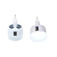 Portable Solar LED Ampoule suspendue Night Market Lampe Lampadaire 30W USB Lampe de secours rechargeable en plein air Camping Tente Lumière