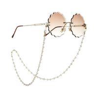 Nueva llegada de lujo Cadenas lentes Pequeño perlas artificiales mezcla delgada de oro de acoplamiento del metal con el corchete de la langosta de uso múltiple de la boca de la cadena de la máscara