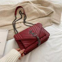 Yeni Luxubrand Tasarımcı PU Deri Crossbody Çanta Kadınlar için Çanta 2021 Basit Moda Omuz Çantası Lady Lüks Küçük Çanta Lady_Bags2019