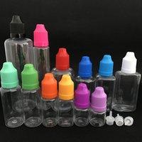 DHL Büyük Kapasiteli 100 ML Pet Temizle Boş Şişe Plastik İğne İpucu Damlalık ECIG Vape Yağı için E-Sıvı E-Suyu Renkli Caps Buhar Aracı