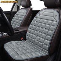 Araba Koltuğu Kapakları ZhoushengLee 12 V Isıtmalı Kapak Tüm Modeller için ATS CTS SRX CT6 SLS ATSL XTS Escalade Kış Pedi Yastıkları Styling1