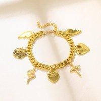 Bracelets de charme perdu dame hip hop chunky chaîne chaîne bracelet pour femme serpent croix breloques de coeur de gros bijoux goutte bijoux bijoux