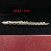 2020 melhores vendedores canetas de luxo edição limitada penas de metal rodas de metal com gemas caneta metal com caneta caixa vermelha como caneta de ponto de esferas de presente