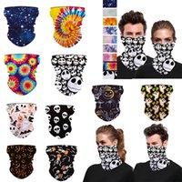 3D stampati maschere della decorazione di Natale sciarpa magica Turba Equitazione Mezza Fasce Bandane donne degli uomini 50PCS Shields Warm Mask Winter Party Cosplay