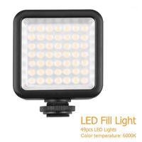 Flash Heads LED видео светильник 6000k DSLR камера на Pogo Poog Studio Освещение с 1/4-дюймовым интерфейсом Универсальная обувная лампа1