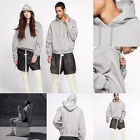 Fashion-doppio Hood con cappuccio grigio marchio Collab casual oversize con cappuccio Pullover Maglione Ponticelli donne degli uomini di Hip Hop Streetwear