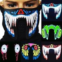 Modedesigner Coole LED leuchtend blinkende halbe Gesichtsmaske Party Event Masken Leuchten Tanz Cosplay wasserdicht FY0063