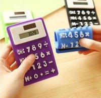 Mini-Rechner Faltbarer Silikonrechner Solar Energie Candycolor Kreative Magnetische Studentenkarten Calculadora Schulbüro Verwenden Sie Werkzeug