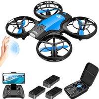 4DRC V8 Mini 4K 1080P Cámara HD WiFi FPV Presión de aire Altitude Hold Black Quadcopter RC Drone Toy 201202