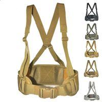 Cintos Molle Conveniente Tactical Belt Caça 600D Nylon Exército Vest Mens ajustável cintura Protect macio acolchoado