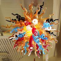 Hot sale modern led chandeliers home decor colorful art glass chandelier lighting hand blown glass chandelier