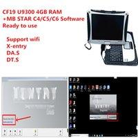 laptop CF19 diagnóstico PC 4G U9300 ram com MB Estrela SD compacto C4 / C5 / C6 V2020.09 macio-ware HDD ou SSD bem instalado