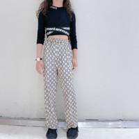Fashion Kids Velvet Pantaloni Hildren Letter Stampato Pantaloni Casual Girls Dinigner Allentato Gamba larga Pantalone A4847