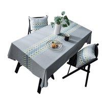 Tela de mesa de algodón impermeable rectángulo cena cubierta cubierta para la decoración de la fiesta de bodas decorativo obrus tafelkleed