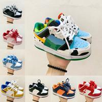 2020 Low Pro Kleinkind Kinder Air Cut Schwarz Casual Baby Kinder Dunk Kinder Leder Niedrig Top Kinder Schuhe Größe 26-37