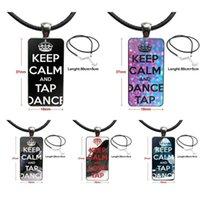 Успокойся и Степа Танцы стекла кабошон Choker Подвеска Rectangle ожерелье стали цвета ювелирных изделий для ювелирных изделий Женщины моды