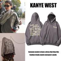 Kanye mismo estilo suéter hombres y mujeres chaqueta con capucha suelta coreana otoño