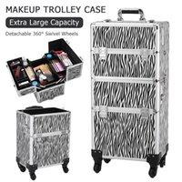 Waco Beauty Courolley Cource Boychetic Case, 3 в 1 Профессиональный хранения Организация Сумки Сумка с наплечным ремешком для макияжа художников, портативный