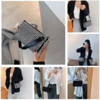 RGC4J Hight einfache qualität echte tote handtasche berühmte Sprichwort Zitat Nogram Hobo Mode Leder Retro Handtasche Frauen Umhängetasche Favorit