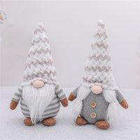 Poupée en peluche Faceless Père Noël Gnome Doll Décorations de Noël arbre de Noël Suspendez Pendentif Parti Décorations pour Home Kids Toy