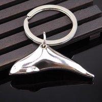 100pcs / lot 2020 nuovo metallo Dolphin portachiavi regalo animale portachiavi Accessori svegli del pendente di chiave 2020new