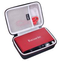 LTGEM EVA Hard Travel Case for Focusrite Scarlett Solo 2i2 (2nd Gen) USB Audio Interface Q1110