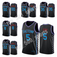 Neue Männer Buddy Hield Deaaron Fox 2020/21 Swingman City Basketball Jersey Black Icon Edition 1