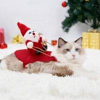 Cane di Natale Vestiti Cat Costume Cowboy Rider Santa Claus Divertente Cosplay Piccolo Yedium Dogs Cats Dress Pet Appeal M1