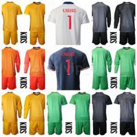 Kids portero de manga larga Juvenil Sergio Rico Jersey Soccer Set Charkie Keylor Navas Nicolas Douchez Alphonse Areola Football Shirt Kits B-L