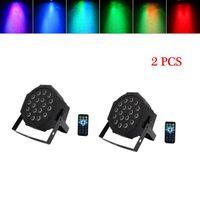 Best 24 W 18-RGB LED Auto / Voice Control DMX512 Lampada da palcoscenico ad alta luminosità (AC 100-240V) Nero * 2 Luci della testa in movimento