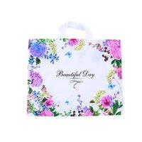 Mulheres moda embalagem saco compra roupas plásticas ornamentos embalagem sacos de embalagem flor flor borboleta belo dia novo arr 0 69HH f2