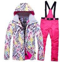 2020 Kış Kar Ceket Kadınlar Kayak Takım Elbise Kadın Kar Ceket Ve Pantolon Rüzgar Geçirmez Su Geçirmez Renkli Giysi Snowboard Setleri1