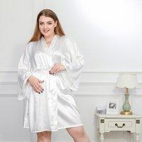 المرأة ملابس خاصة 3xl 4xl زائد الحجم النساء الرباد النوم الجلباب الصلبة الصيف جودة عالية عارضة ناعمة أنيقة الخريف homewear1