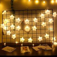 LED Star Light String Lua Lâmpada Cloud Garland Curtain Novidade Quarto Feriado Casamento Ao Ar Livre Decorações Do Partido de Fadas