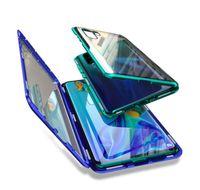 زجاج جانب الهاتف لايت Huaweip30 حالة معدنية مزدوجة لايت مقسى برو p40 امتصاص المغناطيسي p30 برو غطاء حقيبة هواوي ل ljuo home2006