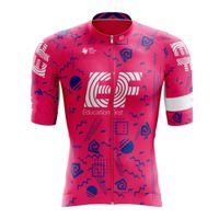 Jersey Aero Cycling EF 2021 Hommes Robes de vélos Rose Nippo Kit Été Chemises d'été RCC PRO Team UCI Racing Bike Maillot Respirant Ciclismo Ropa