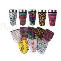 15 estilos 30oz topero titular de tapa bolsas con hielo taza de taza de taza de neopreno mangas aisladas tazas tazas tazas de botella de agua con correa RRA3776