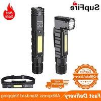 Neue Suppfire G19 Tragbare Taschenlampe mit Magneten USB Wiederaufladbar am besten für Angeln Camping Arbeitslicht Leistungsstarke LED-Fackel