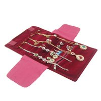 Многофункциональные складные кольца серьги браслет ожерелье ювелирные изделия для хранения рулона пакет туристические выставочные украшения бархатные ювелирные изделия сумка