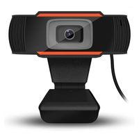 Caméscopes 30 degrés RotaTable 2.0 HD Webcam USB Camera vidéo enregistrement vidéo avec microphone pour ordinateur PC # 251