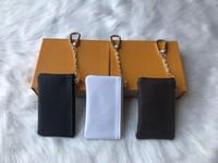 4 색 주차자 파예 가죽 고품질 고급 고전 디자이너 여성 키 홀더 동전 지갑 작은 가죽 키 지갑 M62650