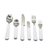 Süblimasyon Beyaz Sofra Seti Paslanmaz Çelik Çatal Yemek Batı Silverware Mutfak Bıçak Kaşık Çatal Yemeği Seti Çocuklar Yetişkin H12504