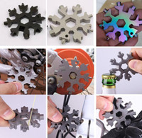 18-in-1 Snowflake Multi-Tool Przenośne Kieszonkowe Klucz narzędziowy Kombinezon Klucz Klucz Zestaw Kluczki Ustaw Narzędzie Do Repair DHL