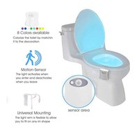 Inteligente PIR Motion Sensor Toilet Seat Night Light 8 cores Waterproof Backlight Para Toilet Bowl LED Luminaria Lamp WC Serviço Luz