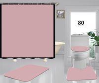 Designer chuveiro cortina à prova d 'água cortina casa de banho matador multi-função cortina de cortina isolamento conjuntos 4 peças rosa novo tapete atacado