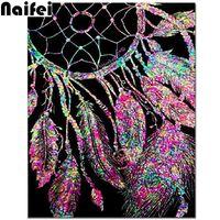 5D DIY Алмазные Картина Наборы для взрослых Полный Дрель Кристалл Rhinestone вышивки крестом искусства Холст стены декора перо