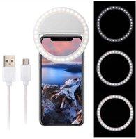 LED selfie lumière pour iPhone 12 XR XS Max Universal selfie Lampe mobile Téléphone Portable flash Objectif Bague pour Samsung S20 Huawei P40 2021
